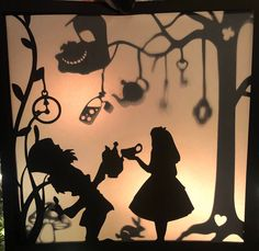 Excited to share this item from my shop: Alice in Wonderland Die Cut Layers for shadow box Alice In Wonderland Silhouette, Alice In Wonderland Drawings, Alice In Wonderland Vintage, Alice In Wonderland Birthday, Alice In Wonderland Background, Vintage Bookmarks, Shadow Theatre, Silhouette Cameo Machine, Die Cut