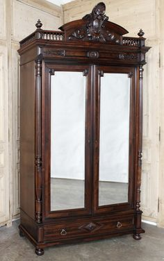 English Antique Armoire Wardrobe Victorian Antique Furniture