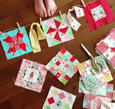 Love this sweet quilting and scraps bunting!