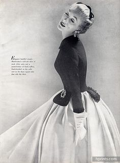 Mainbocher 1951 Evening Gown, Photo Richard Avedon