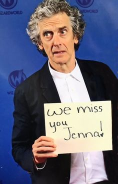 Aww, Jenna couldn't make it.