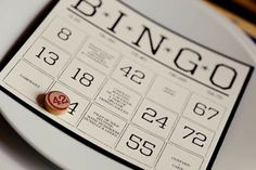 fun & games themed wedding- while guests are waiting, play a fun fact game