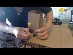 (10) How to make a small box from a big box - YouTube Space Saving Storage, Small Boxes, It Works, The Creator, Big, Youtube, Little Boxes, Nailed It, Youtubers