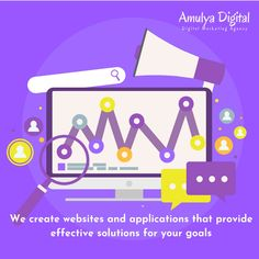 We create websites and applications that provide effective solutions for your goals. Email Marketing, Social Media Marketing, Digital Marketing, Search Engine Marketing, Create Website, Vectors, Engineering, Goals, Technology
