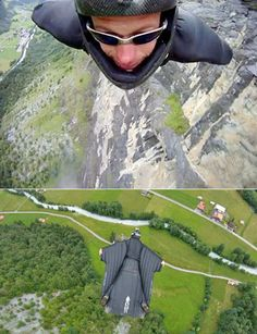 Wing suit - Because jumping out of a plane is pretty expensive after a while.