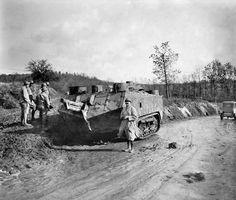 A French St Chamond tank at Passchendaele, August 1917