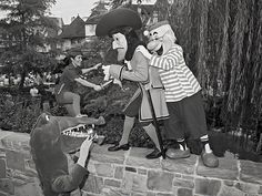 Captain Hook and Smee Battle Peter Pan at Magic Kingdom Park in 1981