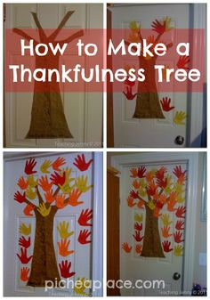 How to Make a Thankfulness Tree - Thanksgiving activity idea for kids and family to do together