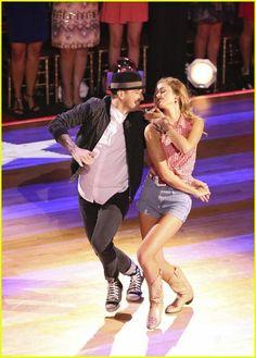 "Wk2 Sadie & Mark danced Jazz to ""She's Country"" by Jason Aldean Scored: 8+7+8+8=31"