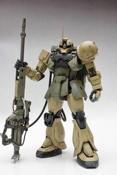 Zaku I Sniper - Custom Build Gundam Wing, Gundam Art, Barbatos Lupus Rex, Cross Silhouette, Battle Robots, Gundam Wallpapers, Gundam Custom Build, Gunpla Custom, Mecha Anime