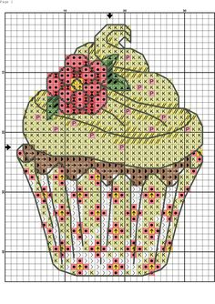 64 super ideas for cupcakes cakes cross Cupcake Cross Stitch, Cross Stitch Bookmarks, Mini Cross Stitch, Cross Stitch Kits, Cross Stitch Designs, Cross Stitch Patterns, Cross Stitching, Cross Stitch Embroidery, Free Cross Stitch Charts