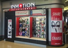 InMotion Entertainment opens a 3rd location at O'Hare. Pick up the latest tech products in the new store near gate K12, and near gates B7 and H2.