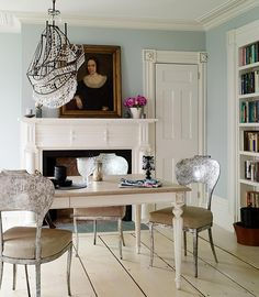 love the mantle and books in the dining room. I might add a faux mantle to my place!
