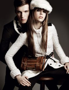 Jourdan Dunn, Cara Delevingne & Edie Campbell for Burberry Fall 2011 Campaign by Mario Testino