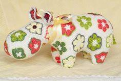 Hippo: Mijn eigen Happypotamus  (patroontje van Heidi Bears)