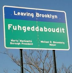 Street sign in Brooklyn. I saw this a few years ago, with my own eyes. If I had not seen it with my own eyes I would not have believed it was a real sign. I love New York and New Yorkers