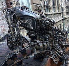 """steampunktendencies: """" Steampunk octopus #steampunktendencies #steampunk…"""