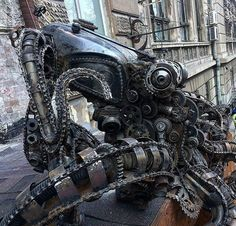 "steampunktendencies: "" Steampunk octopus #steampunktendencies #steampunk…"