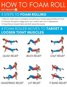Check out these 6 foam roller moves that will help relieve any post-workout pain you have! These tips & tricks will help you effectively use one of our favorite workout tools: the foam roller! #foamroller #painrelief #painreliefexercises