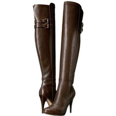 MICHAEL Michael Kors Delaney Boot (Coffee) Women's Boots ($263) ❤ liked on Polyvore featuring shoes, boots, over-the-knee boots, suede over-the-knee boots, platform boots, thigh-high boots, high heel boots and above-knee boots