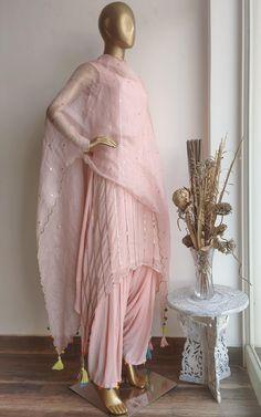 Buy Blush Pink Handwork Kurta and Patiala Set Online – LabelKanupriya Silk Kurti Designs, Simple Kurta Designs, Kurta Designs Women, Kurti Designs Party Wear, Indian Fashion Dresses, Dress Indian Style, Indian Designer Outfits, Indian Wedding Outfits, Indian Outfits