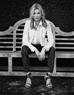 Kate Moss in Rag & Bone spring 2013 campaign, photographed in England (Southrop Gloucestershire) by Alasdair McLellan