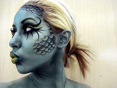 fish face makeup (halloween)