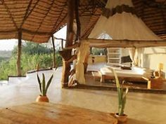 The Virginia Bush Safari experience gives absolute luxury in the Kenyan wilderness. Choose your choice of safari treks, including chimps, tracking leopards with the Samburu tribe, etc. Accommodations include white linen outdoor tents with persian rugs and full outdoor living spaces.
