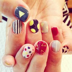 "Artsy idea for getting my nails ""did""!"