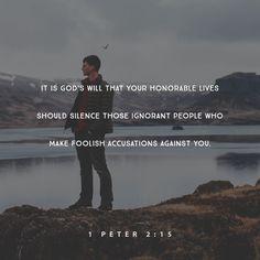 1 Peter 2:15