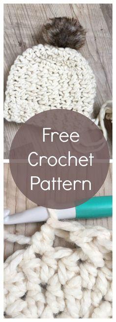 ❗️❗️❗️Criss Crocc Chunky Hat: FREE crochet pattern