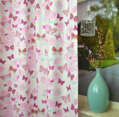 Roze Gordijn Vlinder | CRESTED.33.140 | Kindergordijnen ...