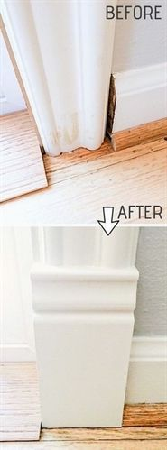 DIY Door Trim is an easy way to upgrade your home! A list of some of the best home remodeling ideas on a budget. Easy DIY, cheap and quick updates for your kitchen, living room, bedrooms and bathrooms to help sell your house! Lots of before and after photos to get you inspired! Fixer Upper, here we come. Listotic.com #RemodelingGuide #kitchenremodelingonabudgetinspiration