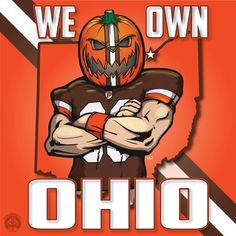 We own Ohio.those Browns fans. Oregon Ducks Football, Ohio State Football, Ohio State Buckeyes, American Football, Oklahoma Sooners, College Football, Cleveland Team, Cleveland Browns Football, Cleveland Rocks