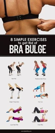 Your Fitness Goals With These Tips 8 Best Exercises to get Rid of Bra Bulge. (Fitness Inspiration Best Exercises to get Rid of Bra Bulge. Fitness Workouts, Fitness Motivation, Fitness Humor, Sport Fitness, Body Fitness, Easy Workouts, Fitness Diet, At Home Workouts, Health Fitness