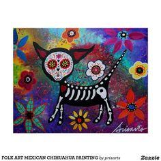 PEINTURE MEXICAINE DE CHIWAWA D'ART POPULAIRE POSTER
