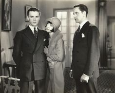 Raymond Hackett, Colleen Moore and Fredric March in Footlights and Fools, 1929 (via)
