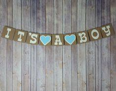It's A Boy Banner It's A Boy Sign It's A Boy by CheekyCutsEtc