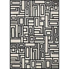 Now House by Jonathan Adler Blocks Collection Area Rug, X Ivory and Black Jonathan Adler, 5 S, Kitchen Dining, Area Rugs, Ivory, Amazon, House, Collection, Black