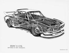 BMW - Gallery: Cutaway Drawings by Shin Yoshikawa (Kai Art International) - DRIVR