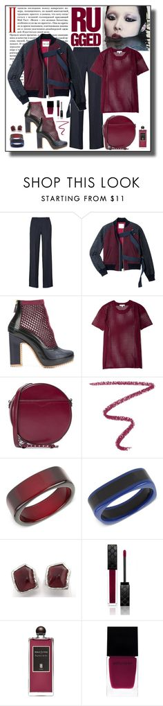 """""""Sacai Embroidered Bomber Jacket Look"""" by romaboots-1 ❤ liked on Polyvore featuring PALLAS, Sacai, Pierre Hardy, IRO, Rebecca Minkoff, NARS Cosmetics, INC International Concepts, Yves Saint Laurent, Gucci and Serge Lutens"""