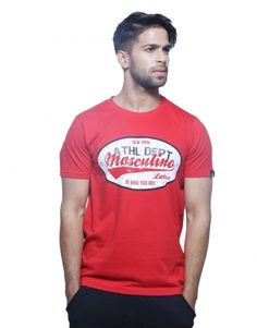 Ariiyaa Masculino Latino Men's Printed T-shirt Red - Ariiyaa.com
