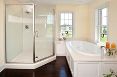 bathroom with corner shower - Cost to install a medium to high-end shower stall   Estimates and Prices at Fixr.com