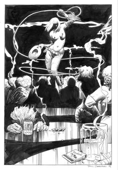 Nancy (Sin City art) by Paul Chadwick Comic Books Art, Comic Art, Book Art, Sin City Comic, Frank Miller Art, City Art, Visual Communication, Cartoon Styles, Illustrators