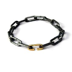 Nike Uehla chain bracelet, recycled steel nails and 18k gold. Gallery Lulo.