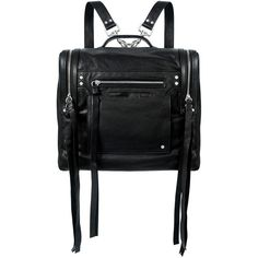 Mcq Alexander Mcqueen - Convertible Box Backpack ($630) ❤ liked on Polyvore featuring bags, backpacks, accessories, leather rucksack, leather knapsack, lightweight backpack, real leather backpack and leather daypack