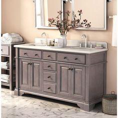 Casanova 60-inch Double Sink Vanity with Backsplash (Casanova 60 Double Sinks Vanity with Backsplash), Black, Size Double Vanities