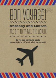 Printable Bon Voyage Invitations Room Design In Your Home