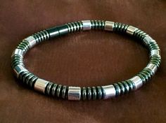 Men's Magnetic Bracelet or Necklace Sleek Design with