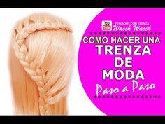 Peinados de Trenzas Diadema Rápidos y Bonitos - YouTube